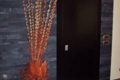 Porta FILO laccata nera
